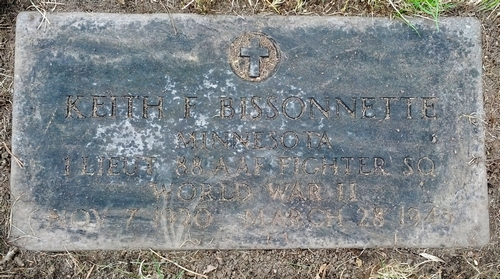 Keith Bissonnette's grave at Calvary Cemetery in St. Paul, Minnesota
