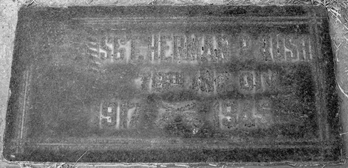 The grave of Herman Rush